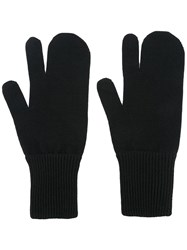 Maison Martin Margiela Knitted Gloves Black