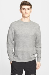 Tim Coppens Mixed Knit Merino Wool Sweater Heather Grey