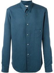 Christophe Lemaire Pointed Collar Shirt Blue