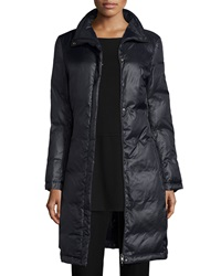 Eileen Fisher Long Eggshell Puffer Jacket