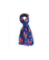 Forever Collectibles New York Mets All Over Logo Infinity Scarf Blue