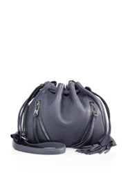 Linea Pelle Ryan Mini Drawstring Leather Crossbody Slate