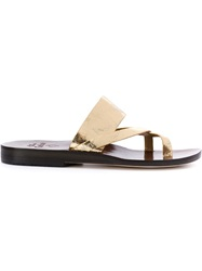 Calleen Cordero 'Juno' Sandals Brown