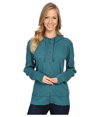 Carhartt Meadow Zip Front Hoodie Teal Blue Heather Women's Sweatshirt