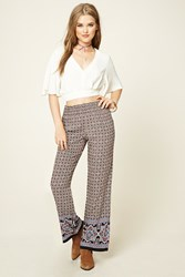 Forever 21 Ornate Print Palazzo Pants