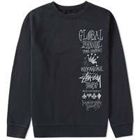Stussy 1St Annual Applique Crew Sweat Black