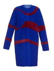 Roksanda Ilincic Bi Colour Reversible Shearling Coat
