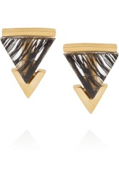 Gemma Redux Gold Plated Rutilated Resin Earrings