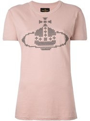 Vivienne Westwood Anglomania Logo Print T Shirt Pink And Purple