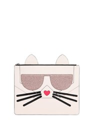 Karl Lagerfeld K Kocktail Choupette Faux Leather Pouch