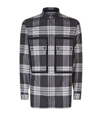 Helmut Lang Checked Patch Pocket Shirt Male Black