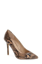 Topshop 'Gemini 2' Snake Print Pointy Toe Pump Women Brown