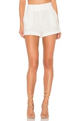 1.State Flat Front Lace Short White