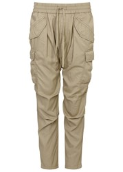 Nlst Sand Cropped Twill Trousers Khaki