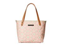 Petunia Pickle Bottom Glazed Downtown Tote Mini Blooming Brixham Tote Handbags Beige