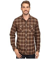 Kuhl Maverik Hazelnut Men's Long Sleeve Button Up Brown