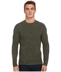 French Connection Dirty Bright Knits Techno Yellow Blue Depths Men's Sweater Olive