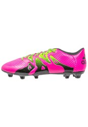 Adidas Performance X 15.3 Fg Ag Football Boots Shock Pink Solar Green Core Black