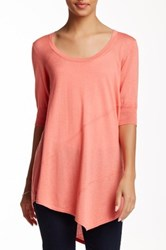 Cullen Asymmetric Seamed Silk Blend Tunic Pink
