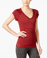 Ideology Rapidry Heathered T Shirt Only At Macy's Real Red