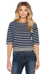Frame Denim Le Crop Slouchy Tee Navy