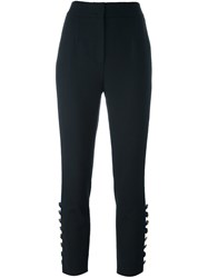 Dolce And Gabbana Cropped Tailored Trousers Black