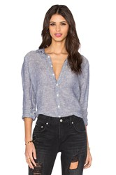 Cp Shades Romy Chambray Button Up Top Blue