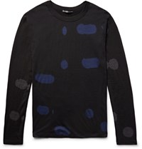 Issey Miyake Men Patterned Wool Sweater Black