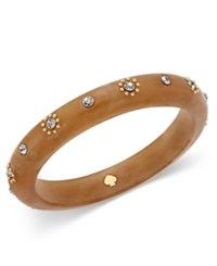 Kate Spade New York Out Of Her Shell Gold Tone Tortoiseshell Look Bangle Bracelet