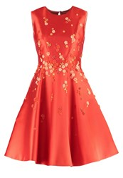 Karen Millen Cocktail Dress Party Dress Orange Red