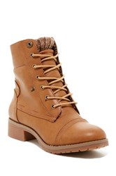 Carrini Knit Fold Over Boot Brown
