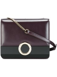 Bulgari Chain Strap Crossbody Bag Pink And Purple