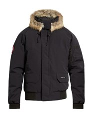 Canada Goose Chilliwack Fur Trimmed Down Bomber Jacket Navy
