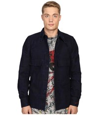 Vivienne Westwood Anglomania Berry Worker's Shirt Blue Denim Men's Clothing