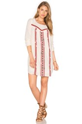 Maison Scotch Embroidered Boho Dress Ivory