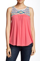 Jolt Embroidered Lace Yoke Tank