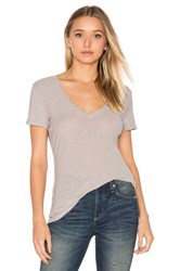 James Perse Casual V Neck Tee Light Gray