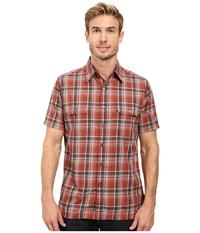 Kuhl Response Short Sleeve Shirt Sundried Tomato Men's Short Sleeve Button Up Red