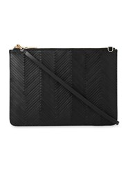 Whistles Woven Leather Rivington Clutch