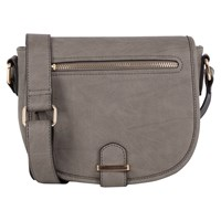 Oasis Sadie Saddle Bag Mid Grey
