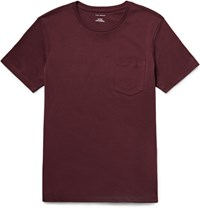 Club Monaco Williams Cotton Jersey T Shirt Burgundy