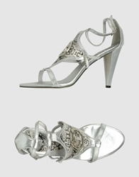 Swish Jeans High Heeled Sandals Silver