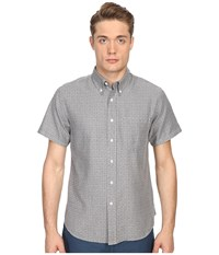 Billy Reid Short Sleeve Tuscumbia Shirt Grey Men's Short Sleeve Button Up Gray