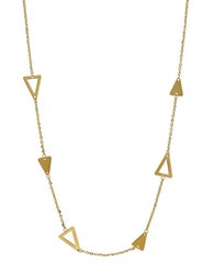 Lord And Taylor 14K Yellow Gold Geo Station Necklace
