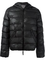 Hydrogen Quilted Camouflage Padded Jacket Black
