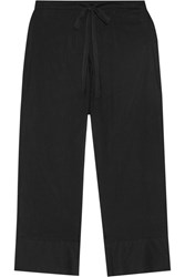 Skin Erin Striped Pima Cotton Pajama Pants Black