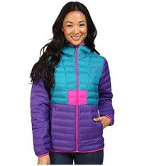 Columbia Flashback Down Jacket Royal Purple Sea Level Groovy Pink Women's Coat Blue