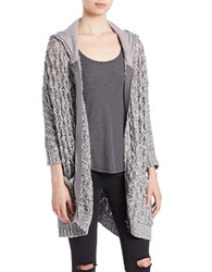 Free People Zip Front Cotton Hoodie Slate