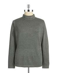 Joseph A Plus Mock Turtleneck Sweater Medium Heather Grey