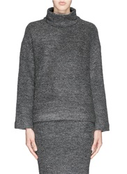 Elizabeth And James 'Kirk' Stretch Boucle Knit Turtleneck Sweater Grey